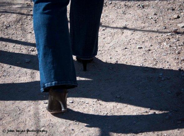 women in heels